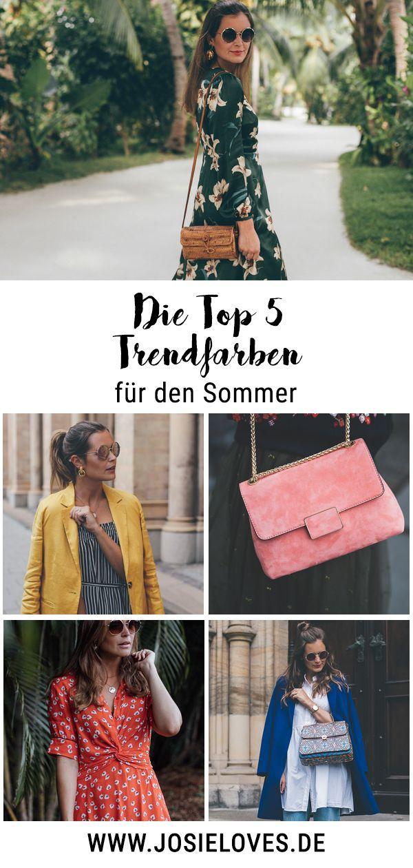 Die Top Fünf Trendfarben für den Sommer 2019