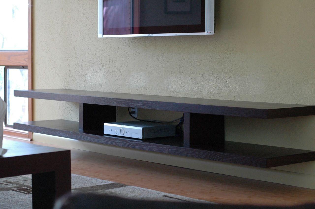 Wood Wall Shelf For Tv Components Floating Shelves Living Room