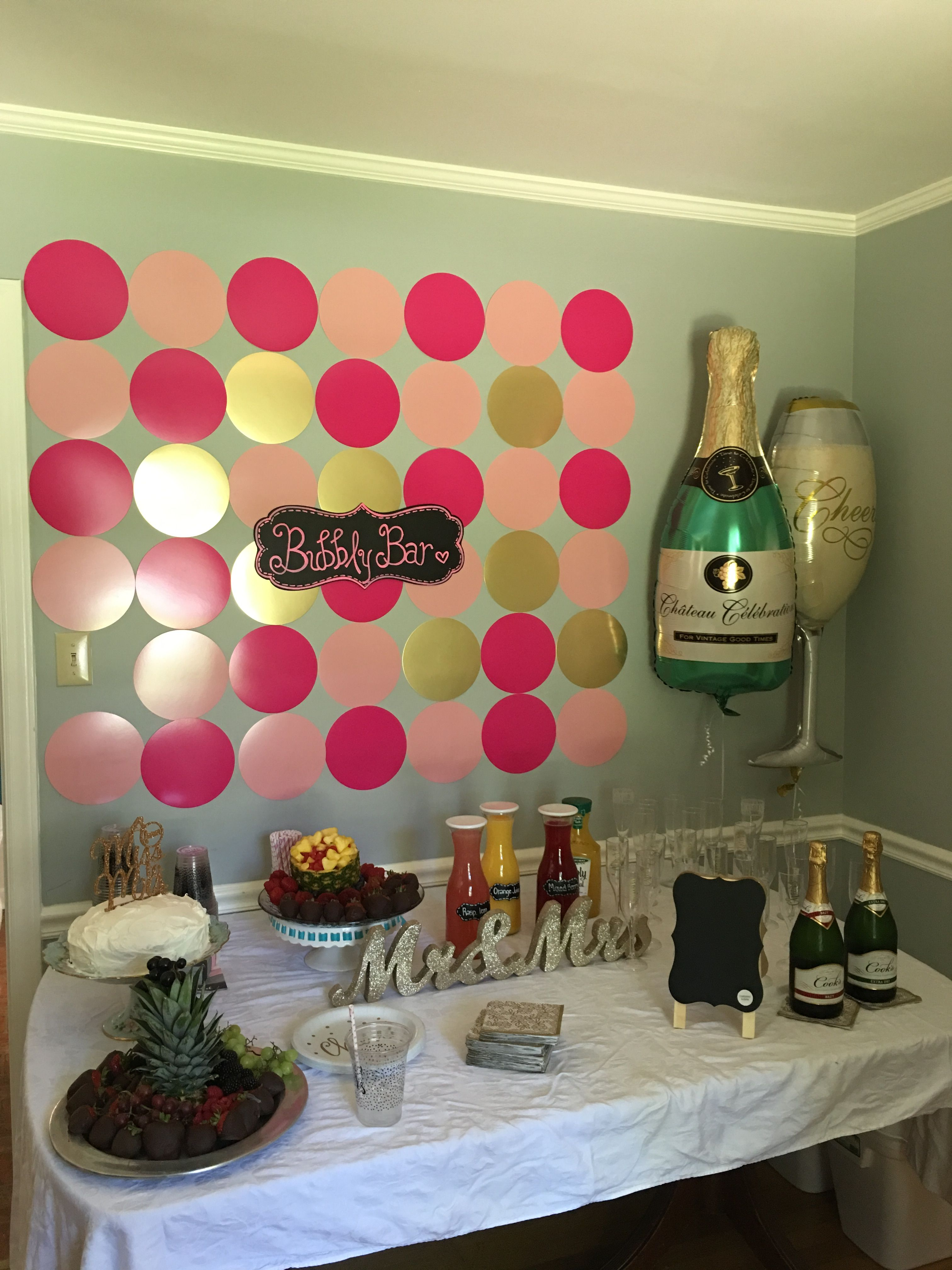 Bubbly Bar for the Beautiful Bride to be