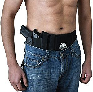 Amazon com : Defensive Gear Belly Band Gun Holster for