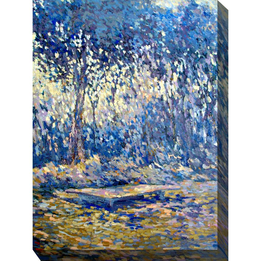 30 in x 40 in river blue outdoor canvas wall art 79260
