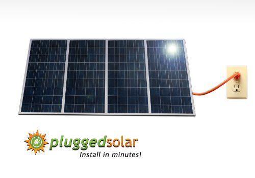 Plugged Solar 1kw Solar Grid Tie System4 X 250 Watt Solar Panel With Micro Grid Tie Inverters Attached Cryst Solar Panels Best Solar Panels Solar Energy Panels