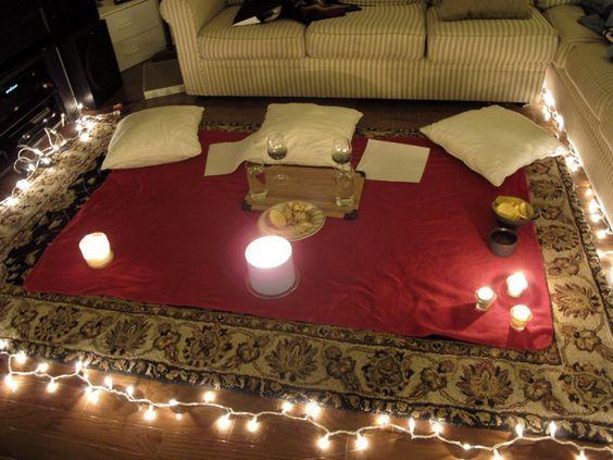 Alfombra como preparar una cena romantica cena noche - Noche romantica en casa ideas ...