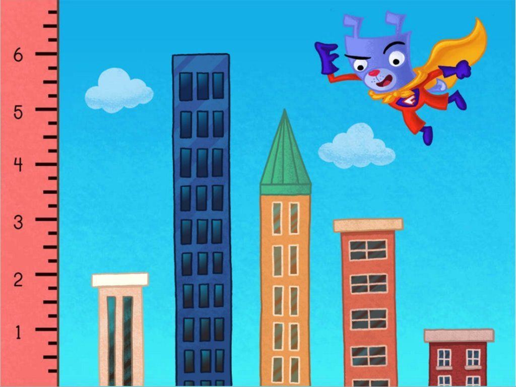Measure buildings with Super Floyd! Interactive online game for 2nd ...
