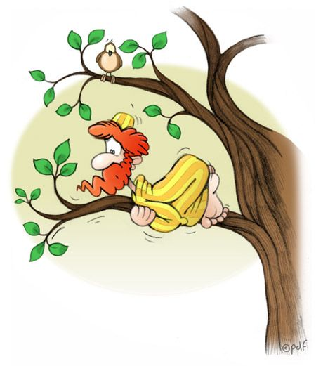 illustration - Zacchaeus up a tree!) bible class activities - copy coloring pages for zacchaeus