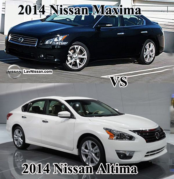 2014 nissan maxima vs 2014 nissan altima new cars for 2014 and 2015 pinterest. Black Bedroom Furniture Sets. Home Design Ideas