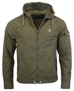 Polo Ralph Lauren Mens Nylon Cotton Blend Hooded Windbreaker - M - Olive  Green Polo Ralph Lauren ++ You can get best price to buy this with big  discount ... 0d7471524950