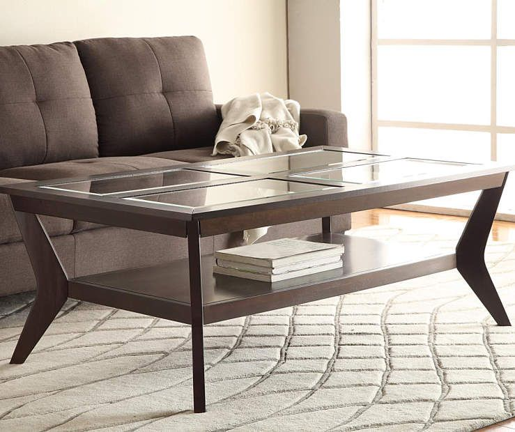 Espresso beveled glass coffee table end table collection big espresso beveled glass coffee table end table collection big lots watchthetrailerfo