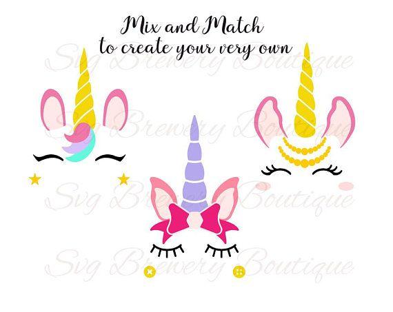 Create your own Unicorn kit Unicorn lashes tiara bow SVG