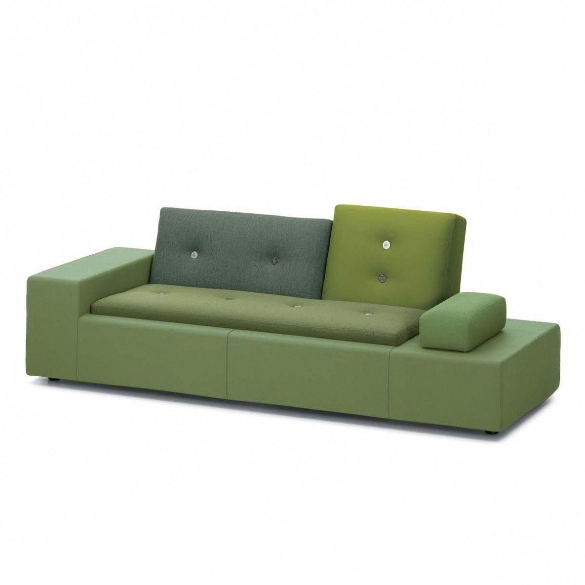 Gewaltig Sofa Grün Dekoration Von Vitra - Polder Xs - Grün/armlehne Links