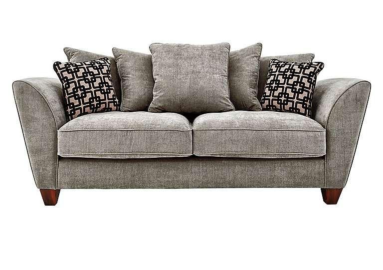 Recliner Sofa Tangier Seater Fabric Pillow Back Sofa