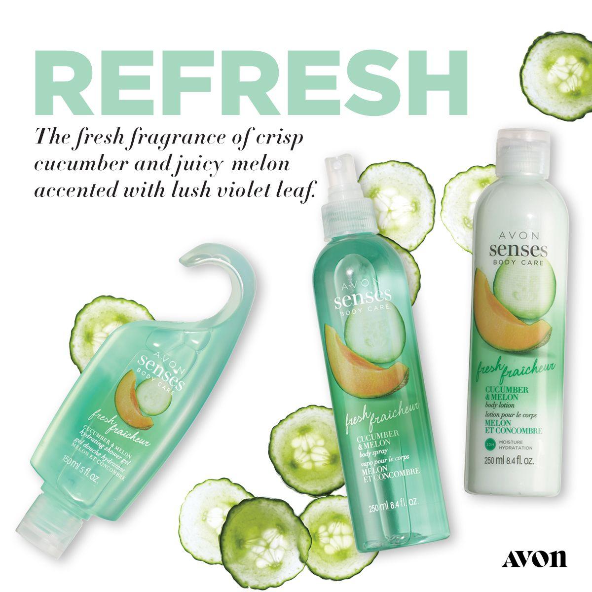 Https Www Avon Com Product Avon Senses Fresh Cucumber Melon Hydrating Shower Gel 55330 Utm Medium Rep Rep Tjett C Mb Pint In 2020 Shower Gel Cucumber Melon Fragrance