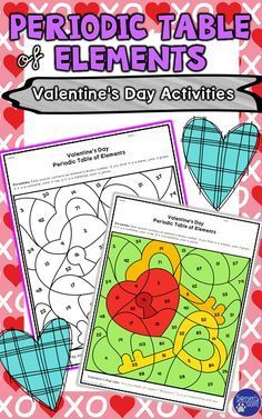 Periodic table of elements valentines day review activity this physical science holiday resource is a great reinforcement for atoms and the periodic table of urtaz Images
