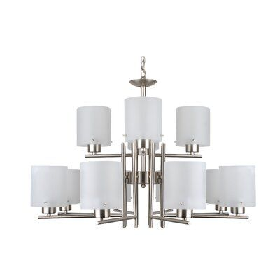 Ebern Designs 12 - Light Shaded Tiered Chandelier