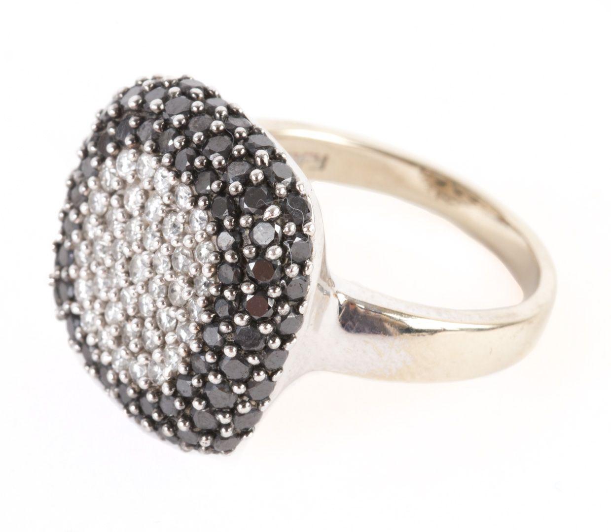 Lady's White and Black Diamond Ring