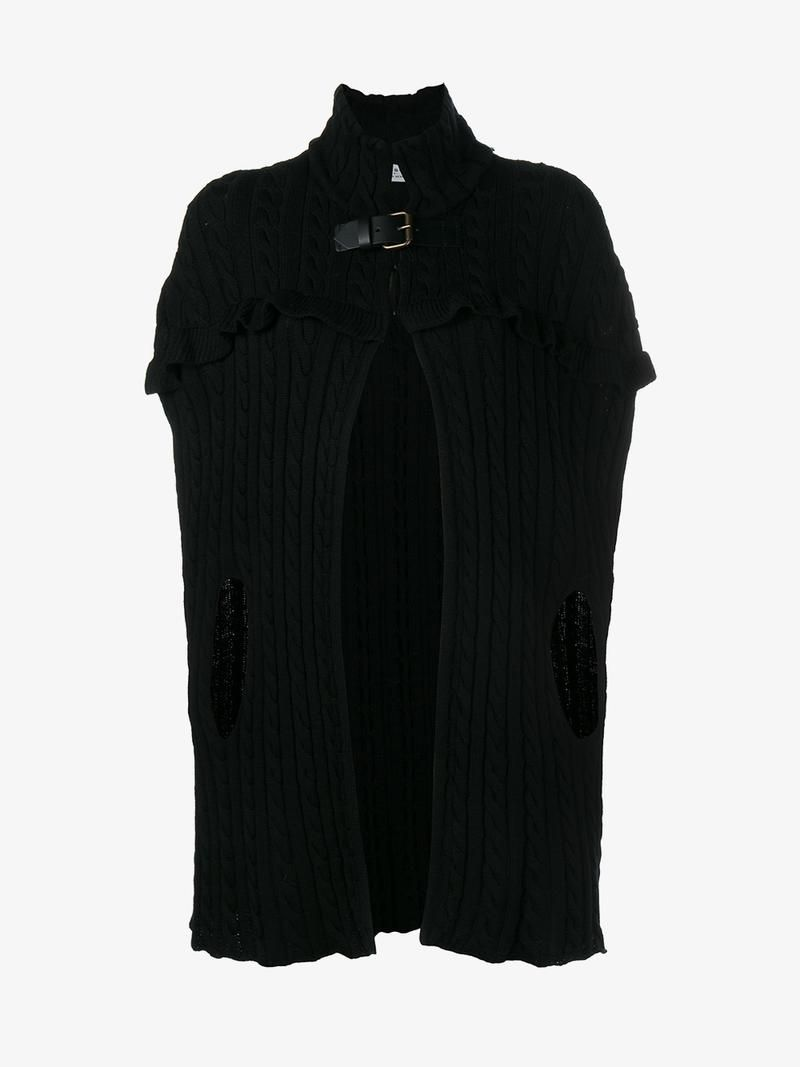 PHILOSOPHY DI LORENZO SERAFINI KNITTED CAPE.  philosophydilorenzoserafini   cloth   1f2051741