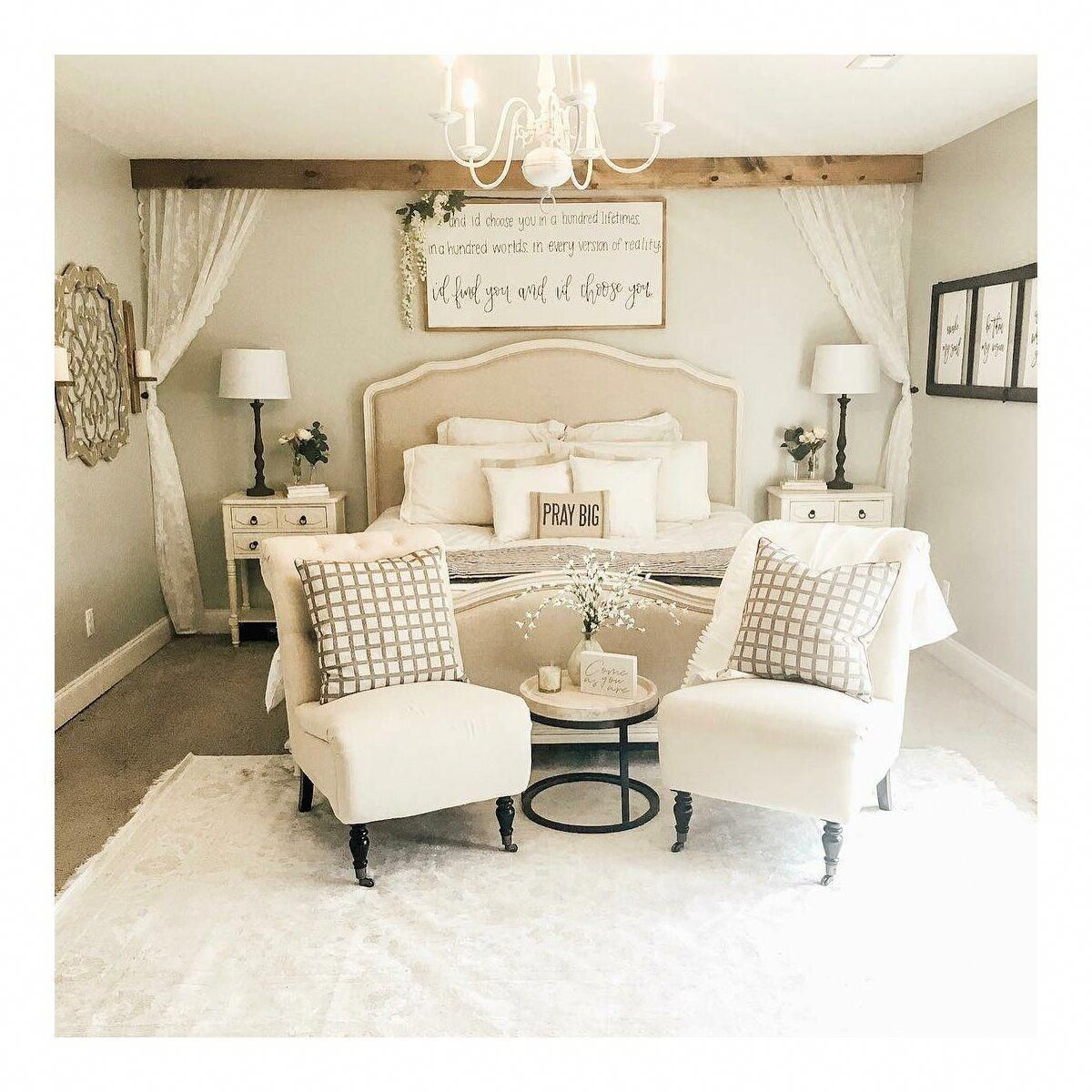 50 Models of Creative Wooden Beds in 2020 Cream bedroom