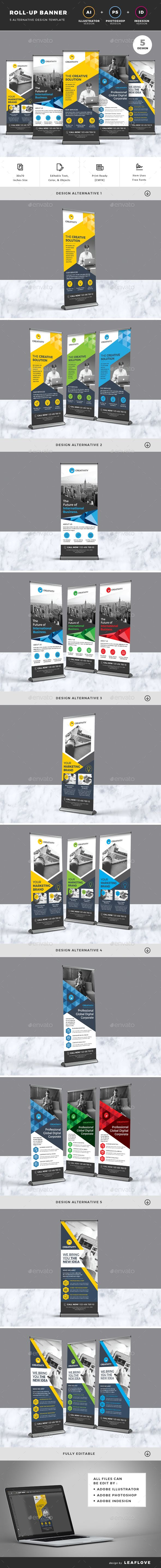 Corporate roll up banner standee template design images ai. Roll Up Banners Banner Template Design Retractable Banner Design Banner Design