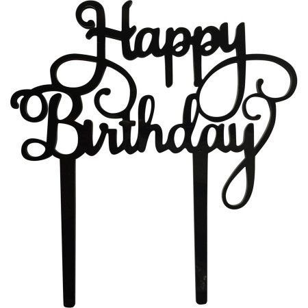 Happy Birthday Cake Topper (Bouquets /Birthday Party Decorations)