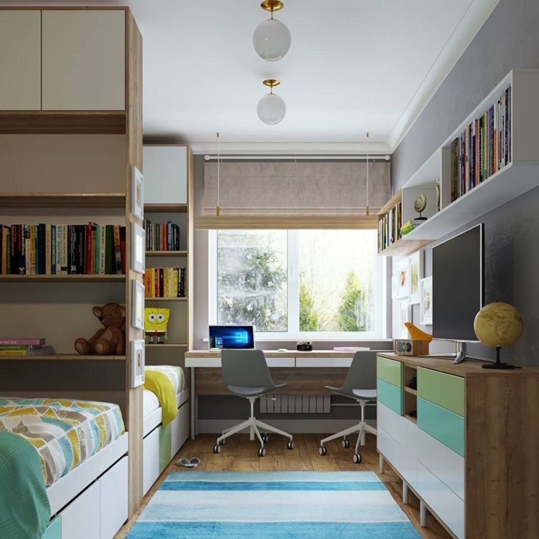 brilliant 20+ fun children's study room design ideas for