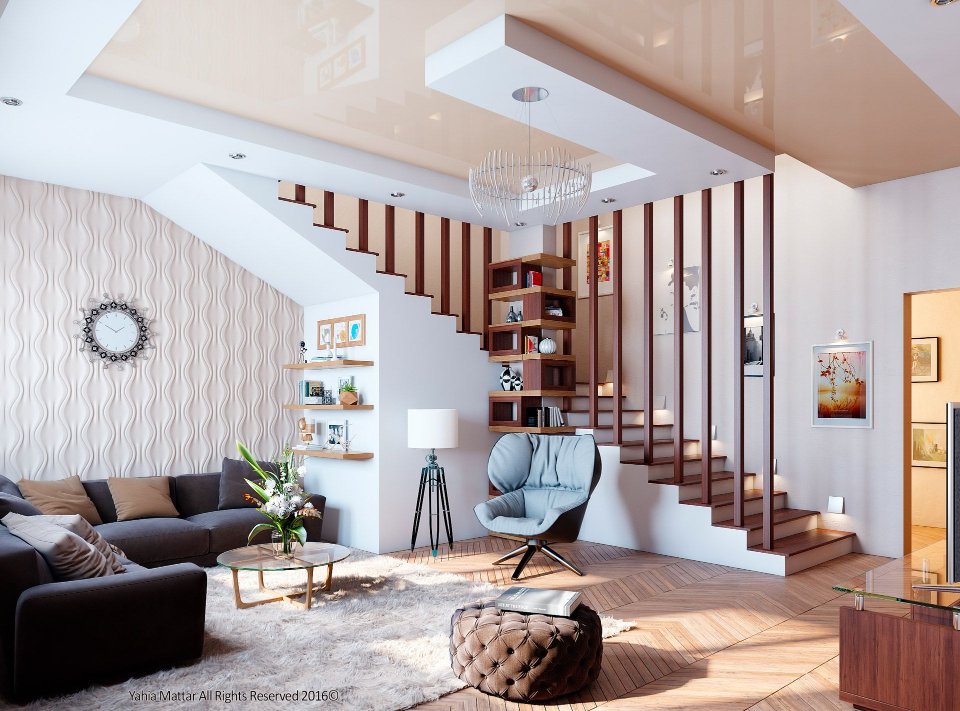 Entrance Hall At Vwartclub Stairs In Living Room Staircase Design Home