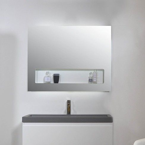ink spiegel sp8 100 x 80 cm met gentegreerd planchet en indirecte led verlichting boven