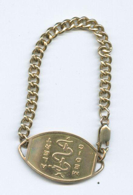 Vintage 10k Gold Filled Medic Alert Bracelet Asthma 7 Alert Bracelet Medic Alert Bracelets 10k Gold