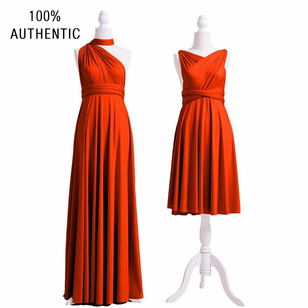 Burnt orange dress plus size  Burnt Orange Bridesmaid Dress Infinity Dress SHORT Lu  STYLES