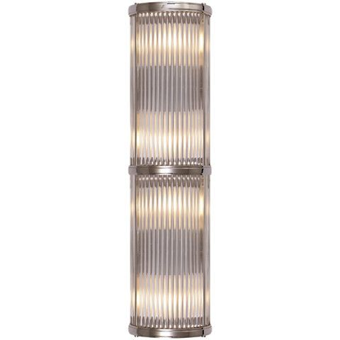 Bathroom Sconces Polished Nickel allen medium linear sconce in polished nickel - wall lamps