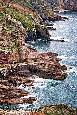 Cliffs In Brittany France Brittany France Brittany France
