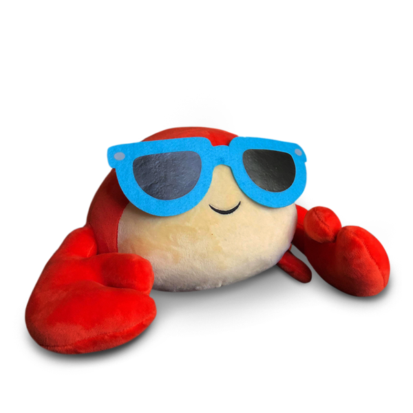 Code For Plushie In Roblox Build A Boat Note Available Now Shipped Upon Order Introducing Pinchy The Crab Plush Toy Become The Owner Of Denis And Sir M Roblox Plush Denis Daily Guess The Emoji