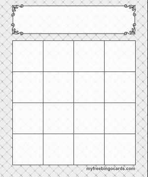 Bingo Card Templates Cards Posh Bingo Template Bingo Card