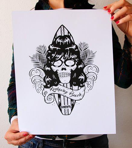 Joey ramone fan art print ganbatte team pinterest