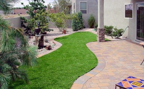 No Maintenance Landscaping Ideas | Artificial Turf Grass ... on Turf Patio Ideas id=30853
