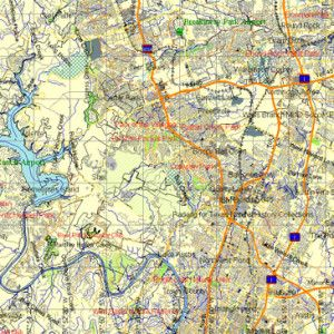 Austin Texas Vector Map In Adobe Illustrator USA Printable - Map of usa with cities pdf