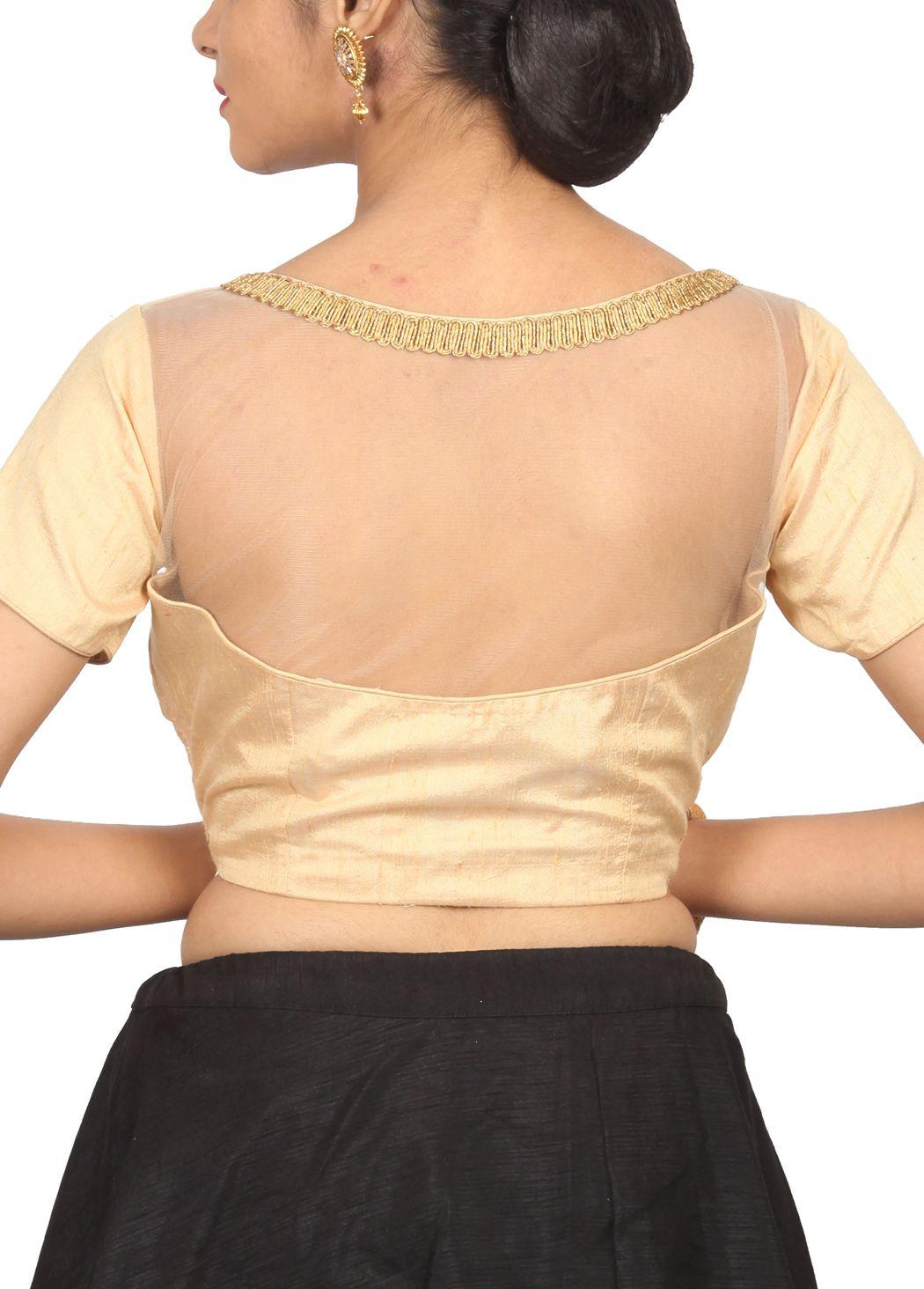 Gold brocade designer blouse bl indian silk house agencies also rh pinterest