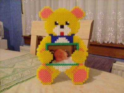 Teddy frame hama beads by anousdeux01