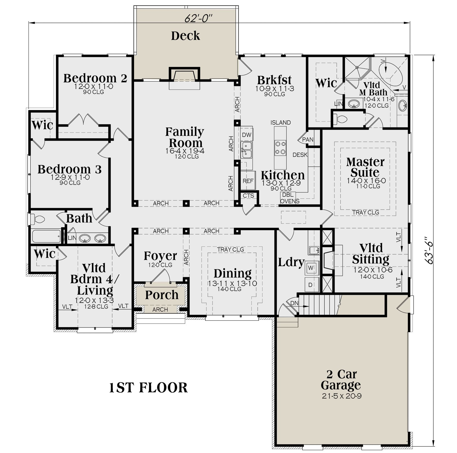 House Plan 009 00035 European Plan 2 406 Square Feet 4 Bedrooms 2 Bathrooms European Plan House Plans Floor Plans