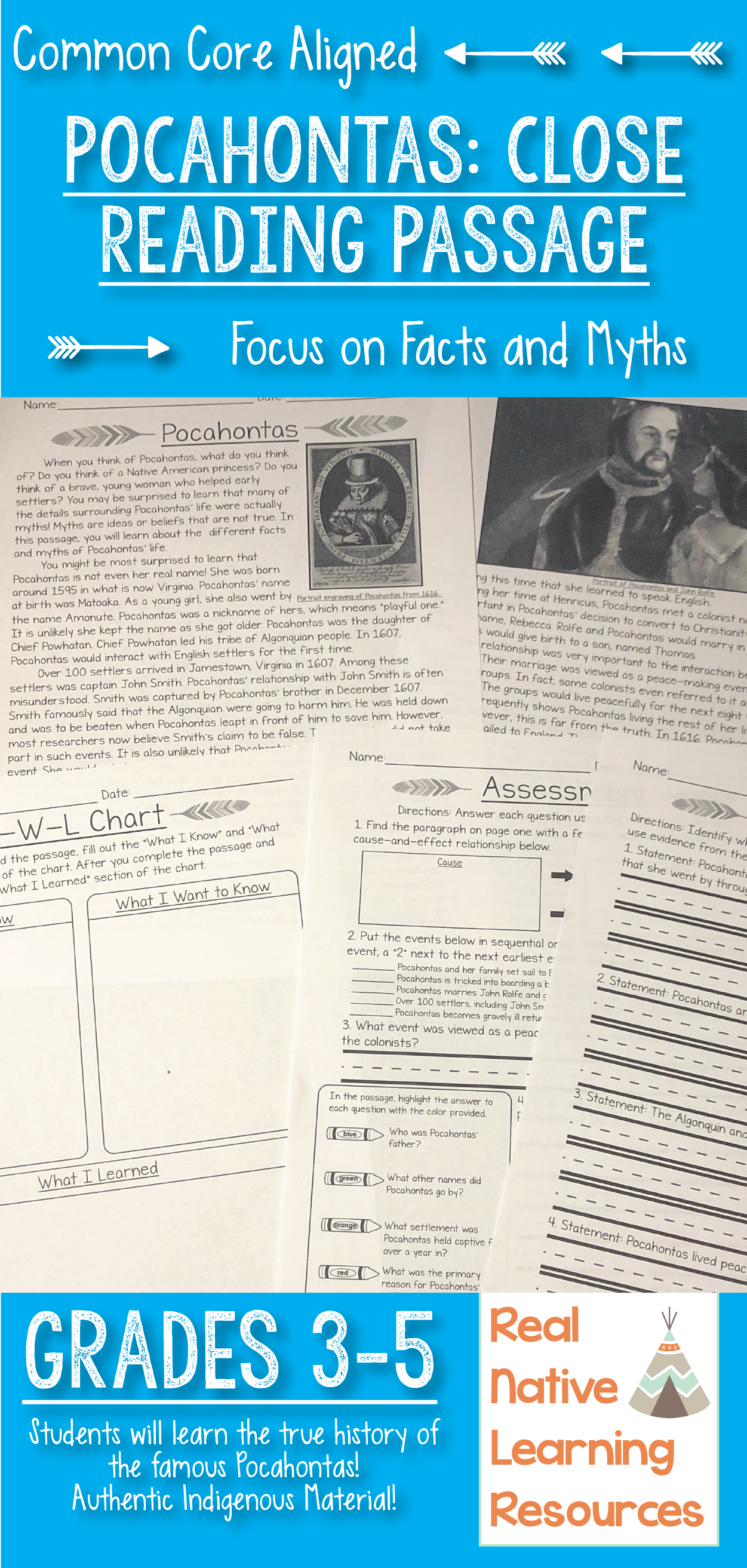 Pocahontas Close Reading Text Facts And Myths
