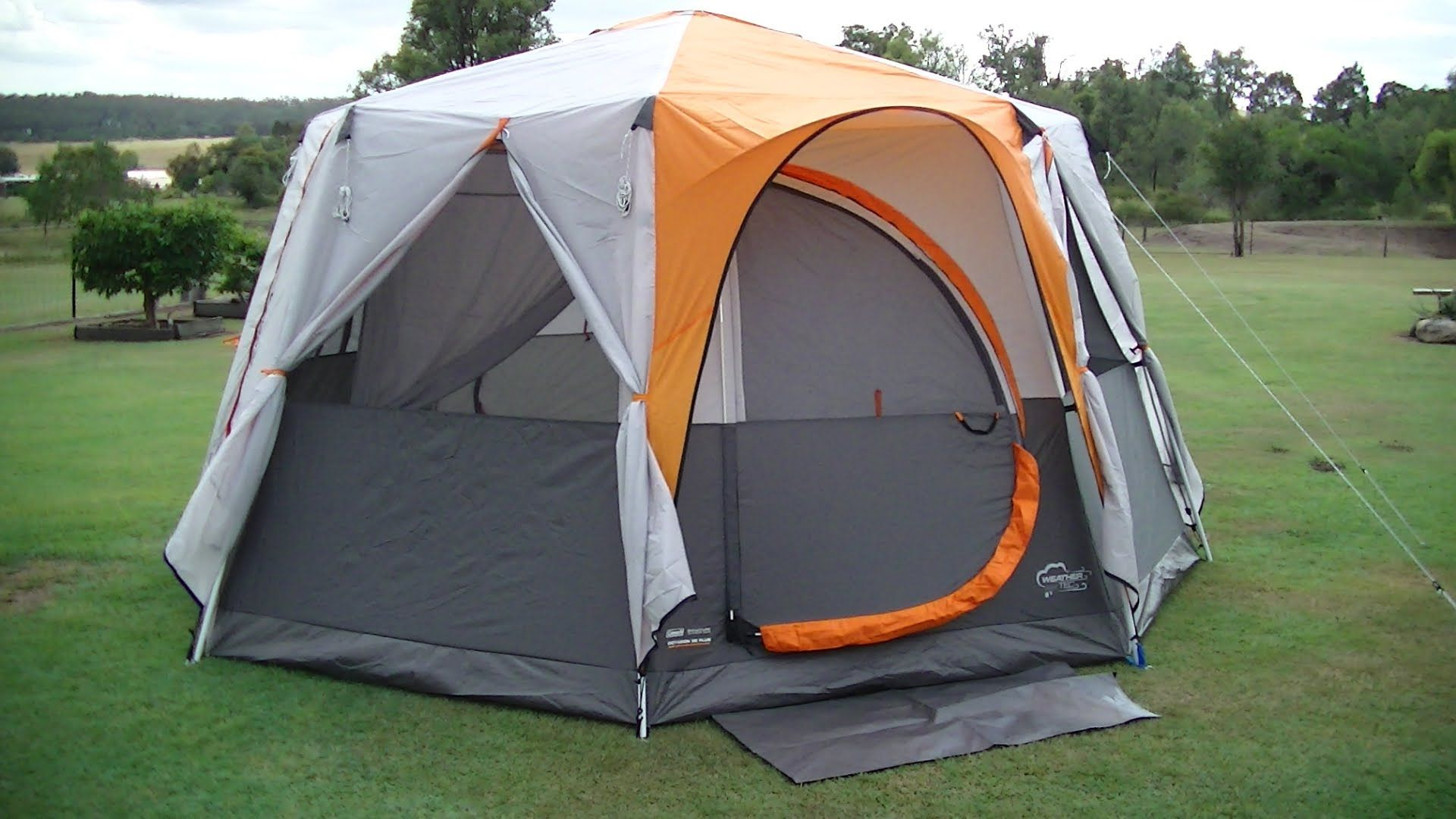 Coleman OCTAGON 98 TENT with Full Fly ~ Easy SETUP and Review & Coleman OCTAGON 98 TENT with Full Fly ~ Easy SETUP and Review ...