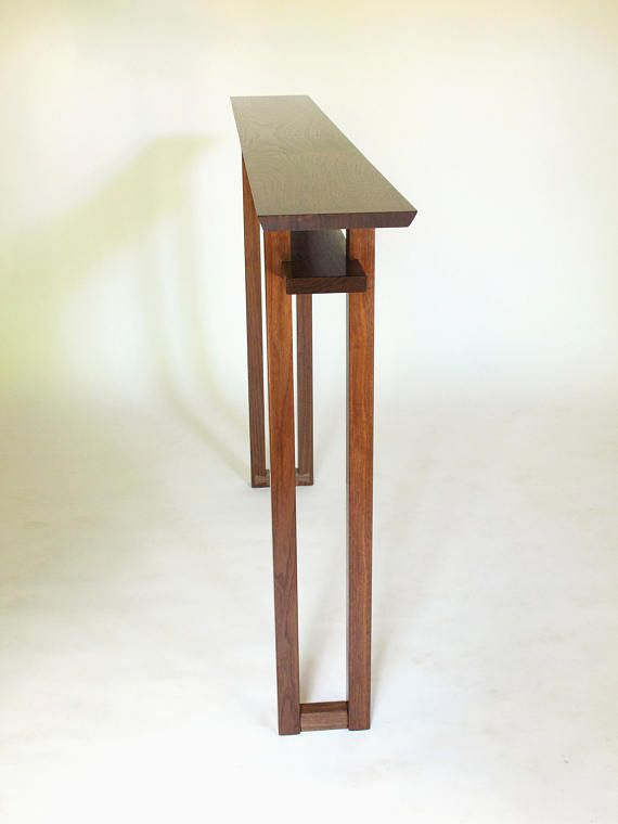 Very Narrow Console Table For Small Es Hall Entry Sofa Handmade Wood Furniture