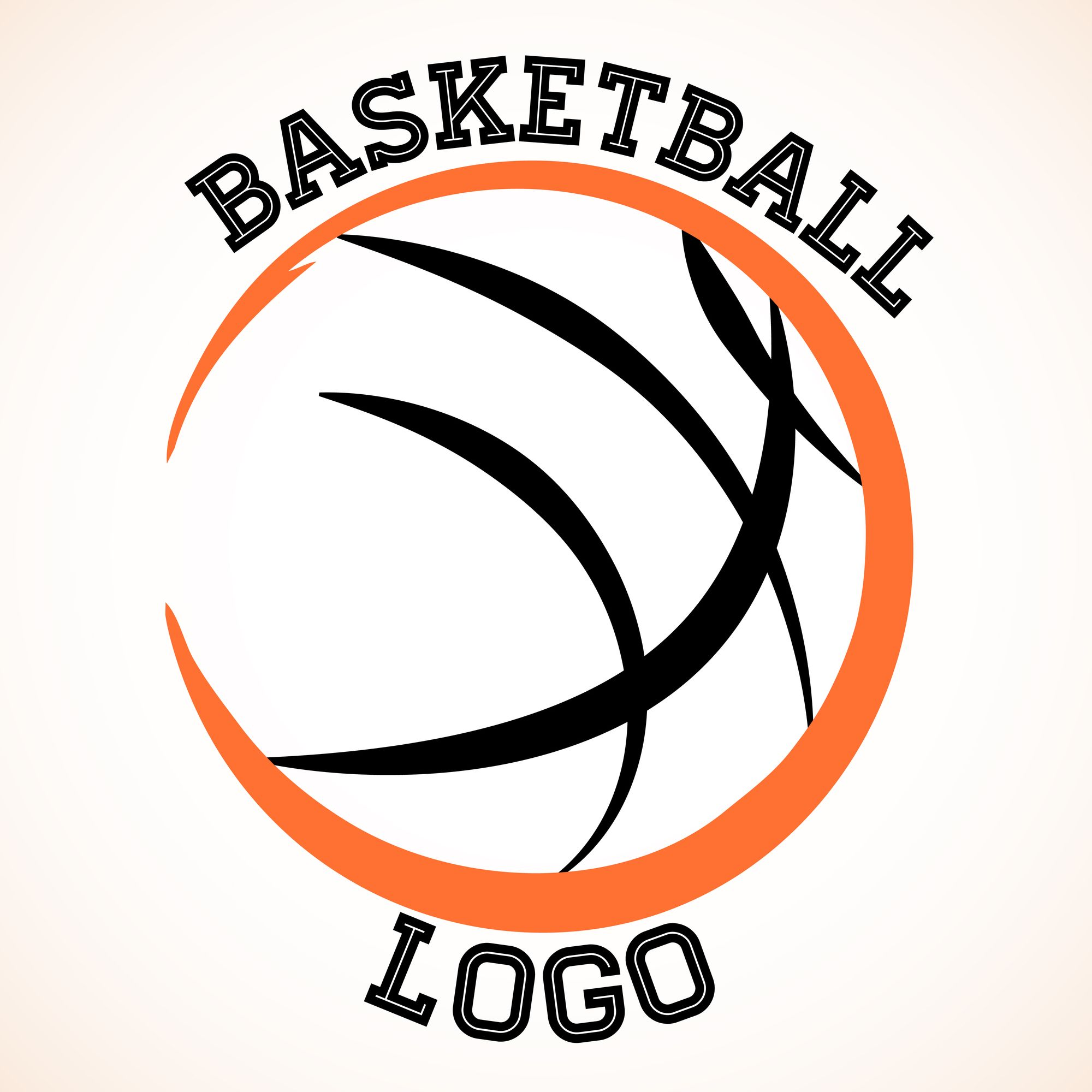 Vector basketball team logo on white background. Logos