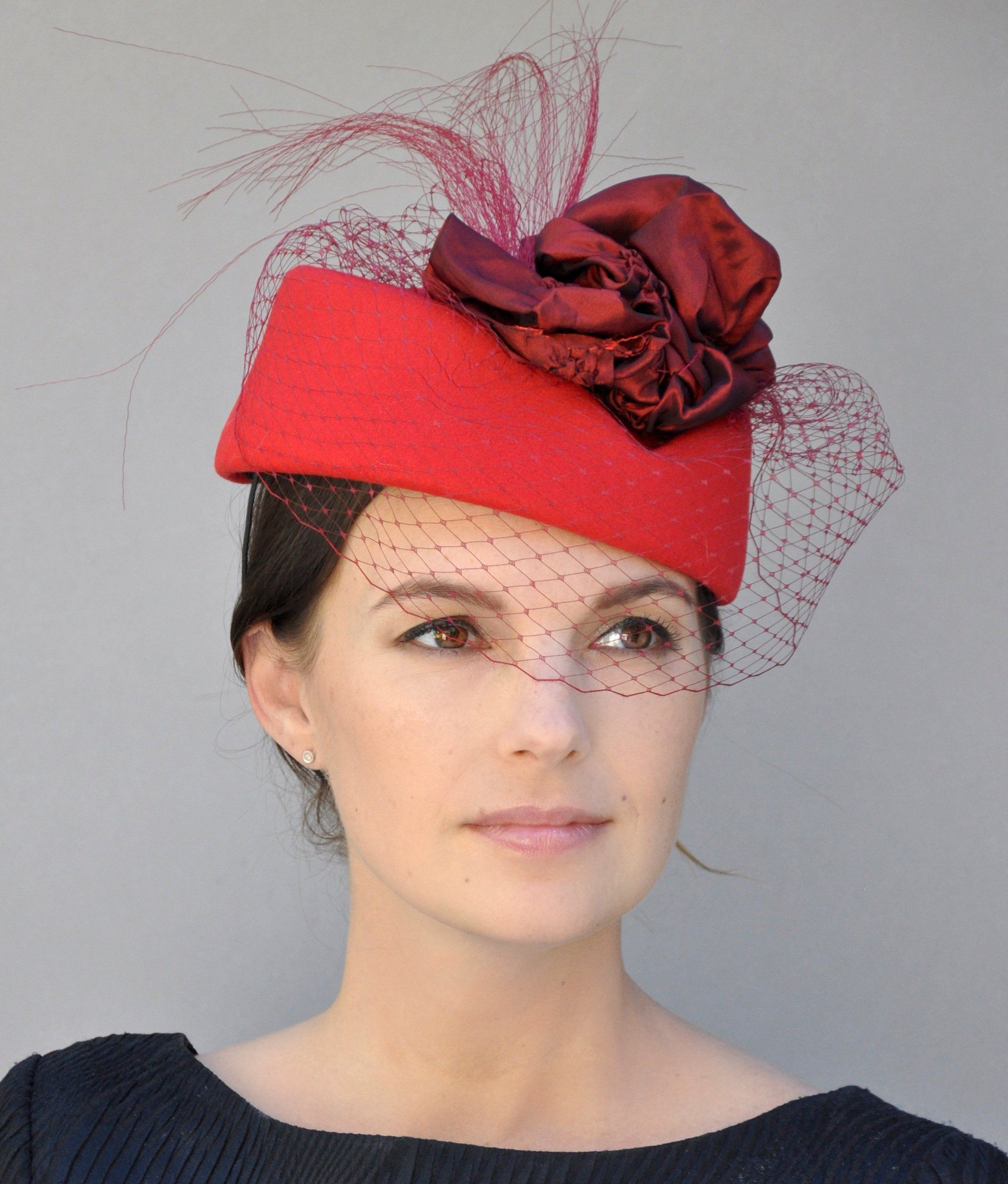 a147cd47c488e Ladies Formal Red Hat