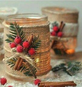 bfbd3fae7 Výroba Vianočných Predmetov, Vianočné Dekorácie, Nápady Pre Šikovné Ruky,  Zaváracie Poháre, Remeslo