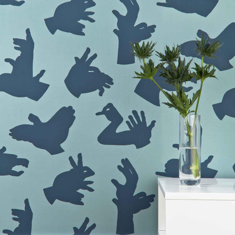 Hand Made Boys Blue Wallpaper