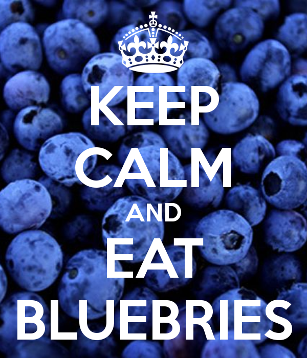 Image result for keep calm and eat blueberries