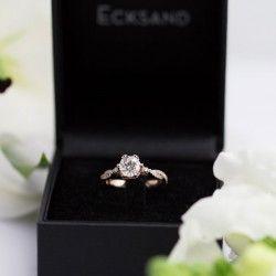 Ecksand Twist Vintage Diamond Ring In Box   Wedding Rings ...