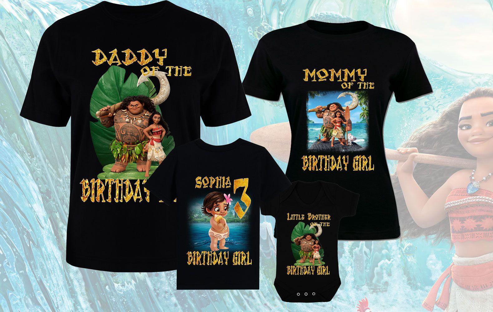 Moana birthday disney tshirts moana custom family shirts