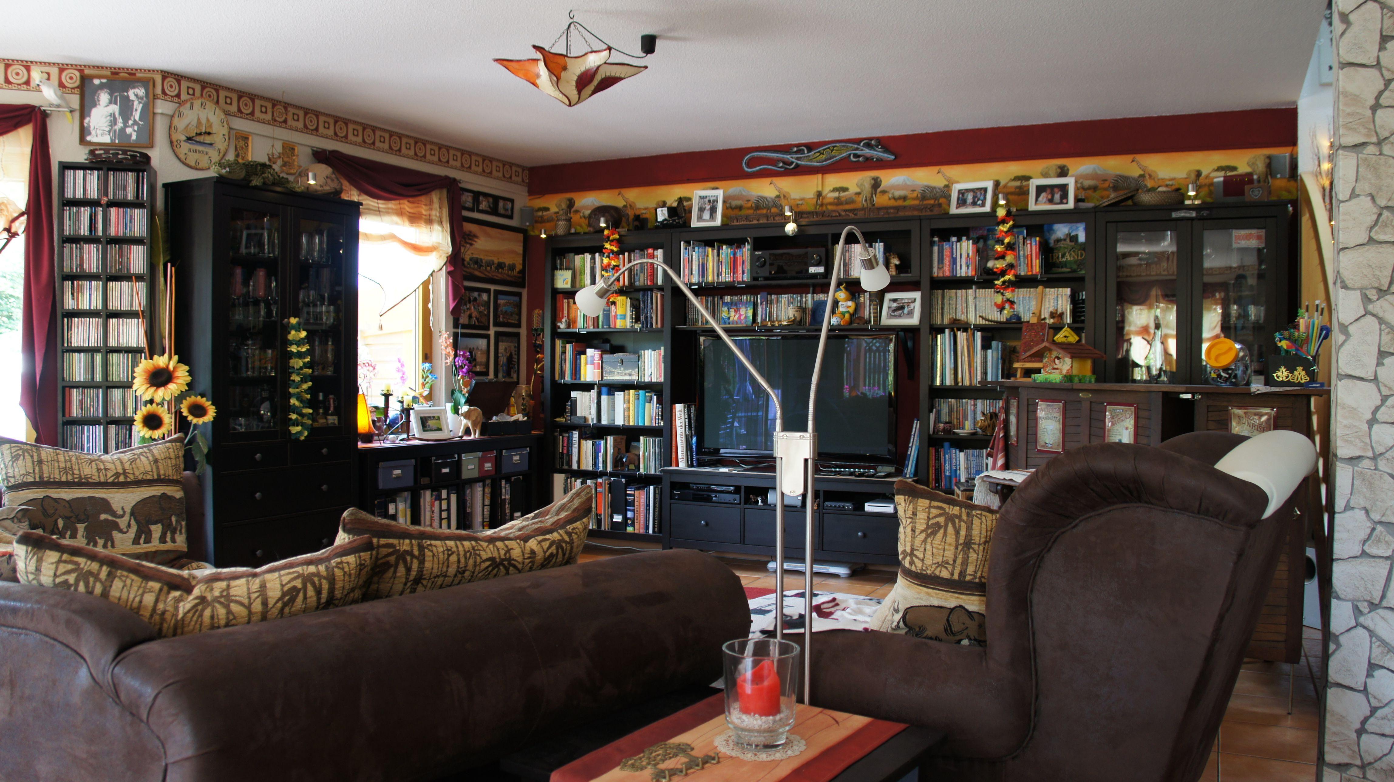 Wohnzimmer im Kolonialstil  Wohnen, Home deko, Kolonialstil