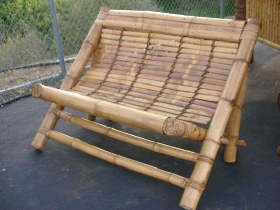 traditional and rustic bamboo seat